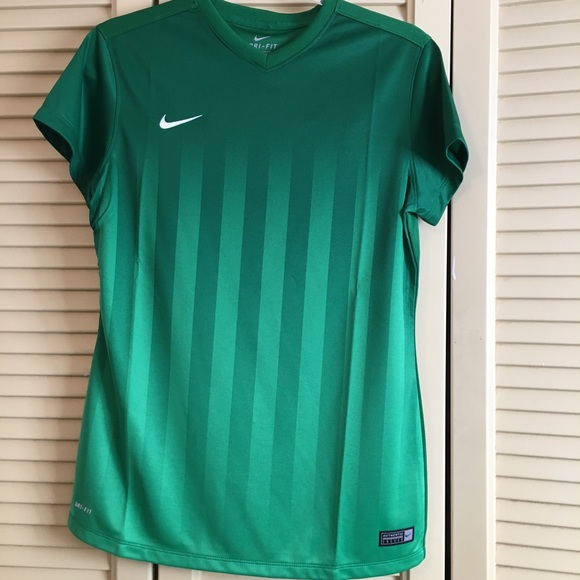 NWT Nike Dri-Fit Authentic Soccer Green Jersey